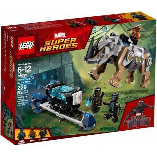 Klocki Lego Super Heroes Pojedynek z nosorożcem w pobliżu kopalni
