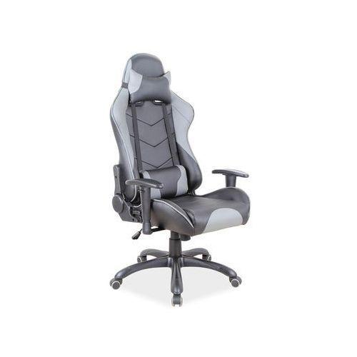 Fotel gamingowy Signal Q-109 - fotel dla gracza, czarno-szary, DOSTAWA GRATIS