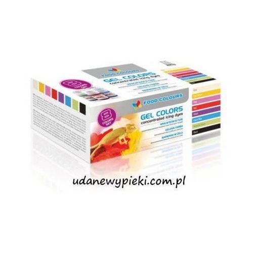 Food colours Barwniki spożywcze w żelu - 8 kolorów x 35g