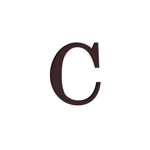 Litera C wys. 9 cm PVC brązowa (5906711250190)
