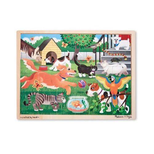 Puzzle drewniane MELISSA & DOUG Zwierzęta Jigsaw 24pc 19059