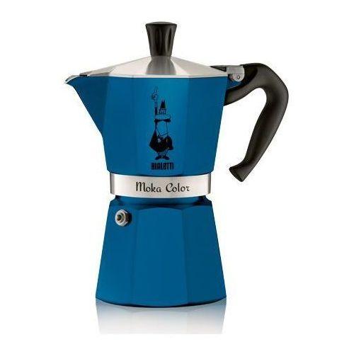Kawiarka  moka color 6 tz niebieski marki Bialetti