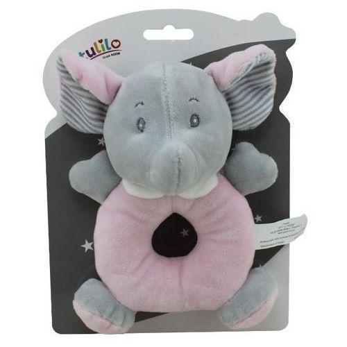 Grzechotka new baby słonik w kolorze różowym 18 cm - darmowa dostawa od 199 zł!!! marki Axiom