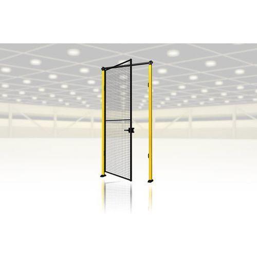 Krata ochronna do maszyn x-guard, pakiet drzwiowy dobudowywany, drzwi uchylne, d marki Axelent