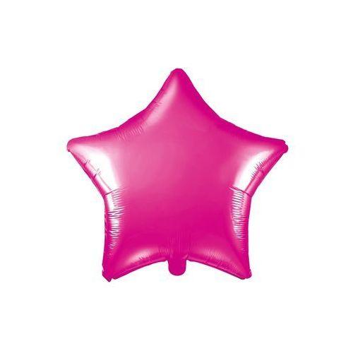 Party deco Balon foliowy gwiazdka ciemnoróżowa - 48 cm - 1 szt.