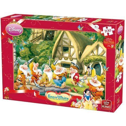 22-004754B Puzzle Królewna Śnieżka i siedmiu krasnoludków - droga do pracy - PUZZLE DLA DZIECI