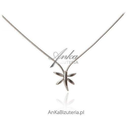 Anka biżuteria Naszyjnik srebrny ważka