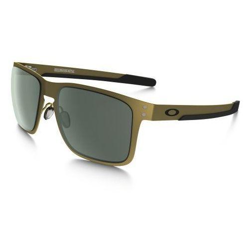 Okulary holbrook metal satin gold dark grey oo4123-0855 marki Oakley