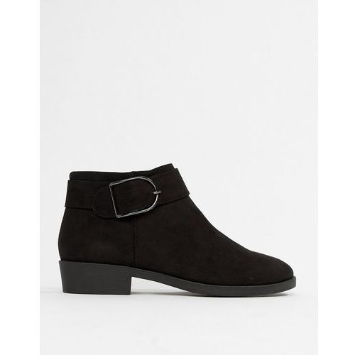 New Look flat chelsea boot with buckle detail - Black