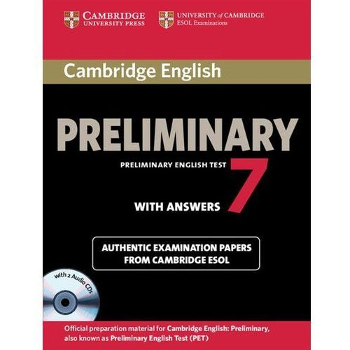Cambridge English Preliminary PET 7 with answers and CD