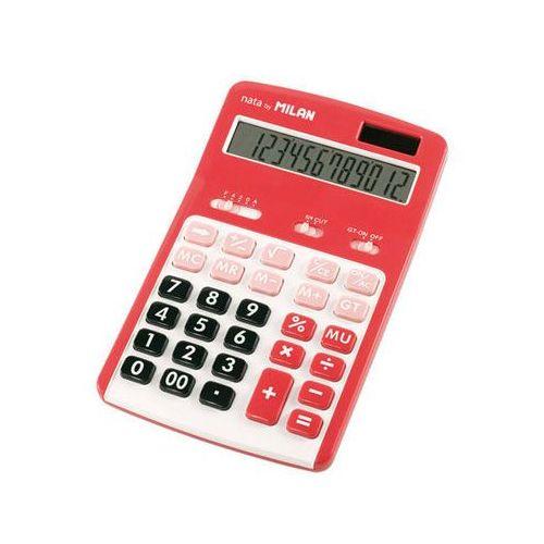 Milan Kalkulator 12 pozycyjny, czerwony (8411574036500)