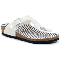 Japonki BIRKENSTOCK - Gizeh Kids Bs 1012724 M Nautical Stripes White, kolor biały