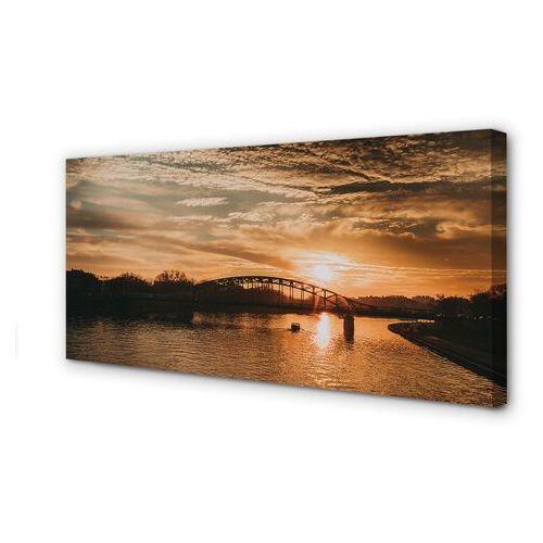Obrazy na płótnie kraków most zachód słońca rzeka marki Tulup.pl