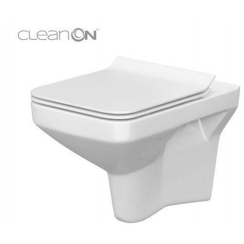 Cersanit miska wc wisząca como clean on new + deska slim duroplast wolnoopadająca k32-020.k98-0143