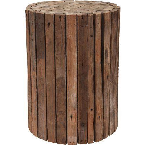 Taboret z naturalnego drewna tekowego - stołek, podnóżek (8719202738346)