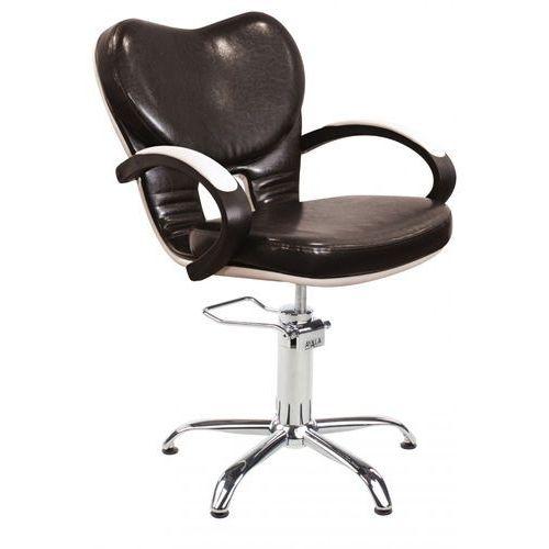 Fotel fryzjerski clio brązowy/beżowy 48h marki Ayala