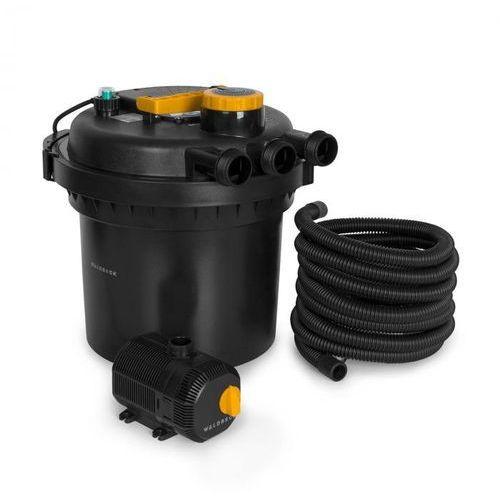 Waldbeck Aquaklar, zestaw filtrów ciśnieniowych do stawu, oczyszczacz UV-C 11 W, pompa 35 W, wąż 5 m (4060656152078)