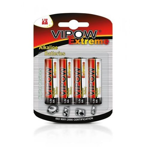 VIPOW Baterie alkaliczne EXTREME LR06 4szt./bl. (5901436753469)