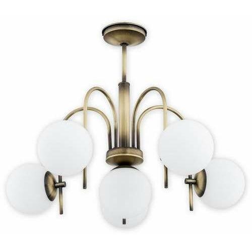 Lemir Ape O2856 W6 Pat lampa wisząca zwis 6X60W E14 patyna