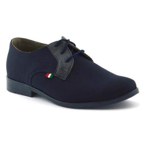 Granatowe buty komunijne dla dzieci Kornecki 06120 - Granatowy