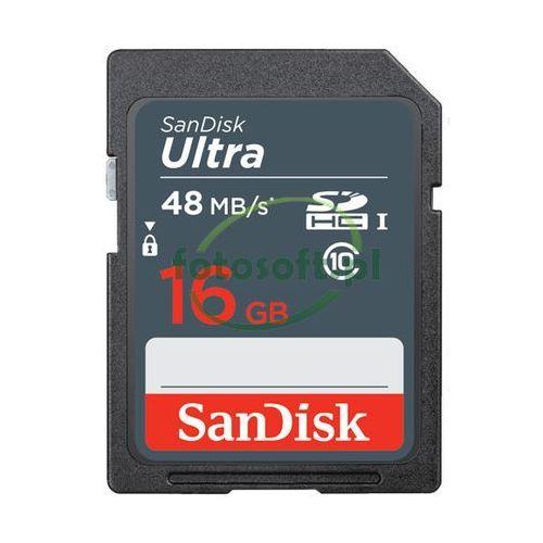 Karta pamięci sdhc ultra 48mb/s 16gb uhs-i class 10 - hurt marki Sandisk