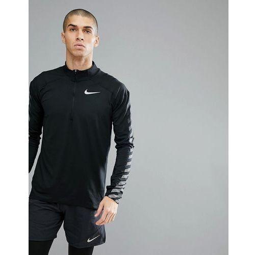 flash element reflective half zip sweat in black 859199-010 - black marki Nike running