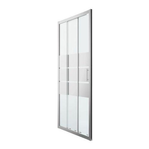 Drzwi prysznicowe przesuwne GoodHome Beloya trójdzielne 90 cm chrom/szkło lustrzane, DKT90X-D
