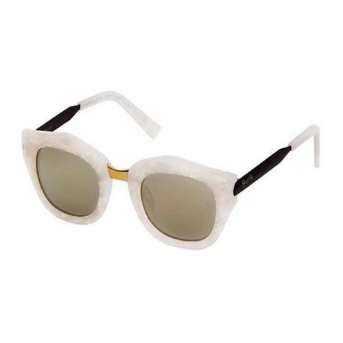 Spektre Okulary słoneczne mon amour ma04c/m. pearl/black/gold (gold mirror)