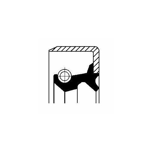 Corteco Pierścień uszczelniający wału, piasta koła  12012931b