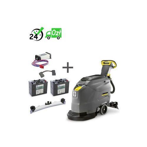 Karcher Bd 43/25 c bp szorowarka + 2x akumulator + prostownik + listwa ssąca łukowa #zwrot 30dni #gwarancja d2d #karta 0zł #pobranie 0zł #leasing #raty 0% #wejdź i kup najtaniej