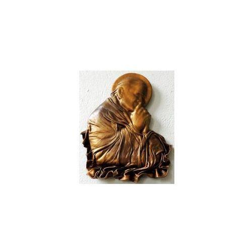 Święty papież jan paweł ii - płaskorzeźba w skórze na prezent - pn-2 marki Art deco