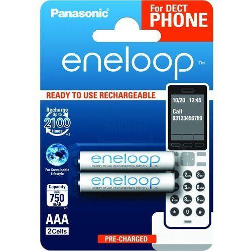 Akumulatorki Panasonic Eneloop R03 AAA 800mAh for DECT BK-4MCCE/2DE 2 sztuki