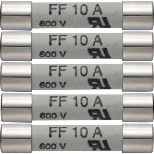 Zestaw 5 szt. bezpieczników zapasowych 10 A/600 V testo 0590 0005