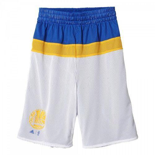 Spodenki koszykarskie dwustronne  nba golden state warriors junior ax7832 wyprodukowany przez Adidas