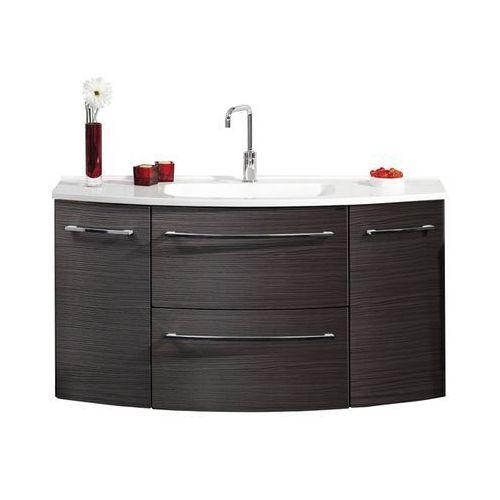 Szafka łazienkowa z umywalką 120 cm s2.1 - ciemny dąb \ 120 cm \ clou-system marki Lanzet
