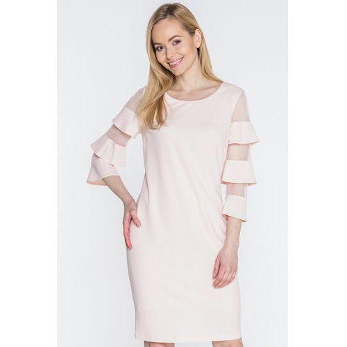 Bladoróżowa sukienka - Margo Collection