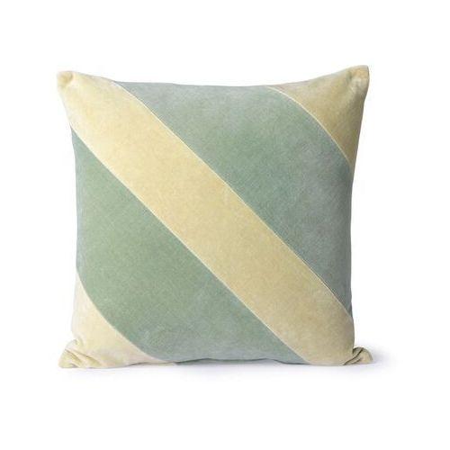 Hkliving poduszka velvet w paski miętowy/jasnozielony (45x45) tku2100 (8718921036177)