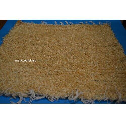 Chodnik bawełniany (wycieraczka) ręcznie tkany złocisty 65x50