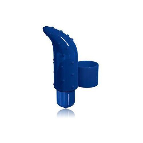 Wibrator na palec Frisky Finger PowerBullet z wypustkami niebieski