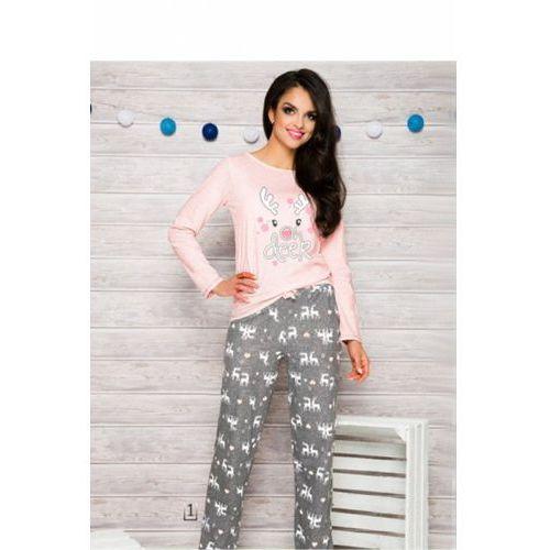 Piżama Damska Model 1193 Oda AW/17 K1 Pink/Grey, kolor różowy