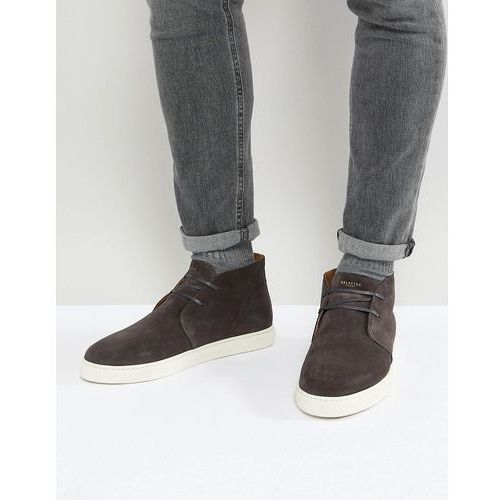 suede mid top trainers - grey marki Selected homme