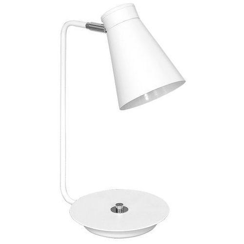 Luminex Lampka biurkowa bevan 5034 lampa stołowa 1x60w e27 biała