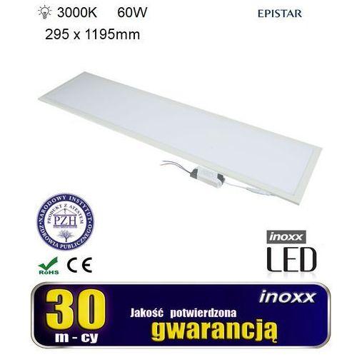 Inoxx Panel led sufitowy 120x30 60w lampa slim kaseton 3000k ciepły (5909182427245)