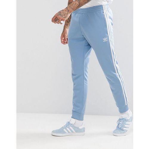 adicolor skinny joggers cuffed hem in blue cw1277 - blue, Adidas originals, M-XL
