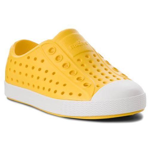 Trampki - jefferson 13100100-7521 crayon yellow/shell white marki Native
