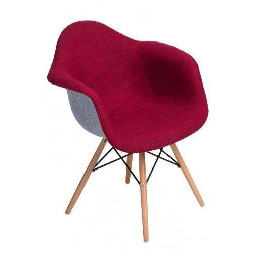 Krzesło p018 daw duo czerwono szare marki Domfan design