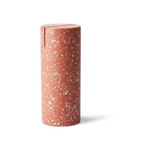 Hk living stojak na zdjęcie cylinder czerwony aoa9981