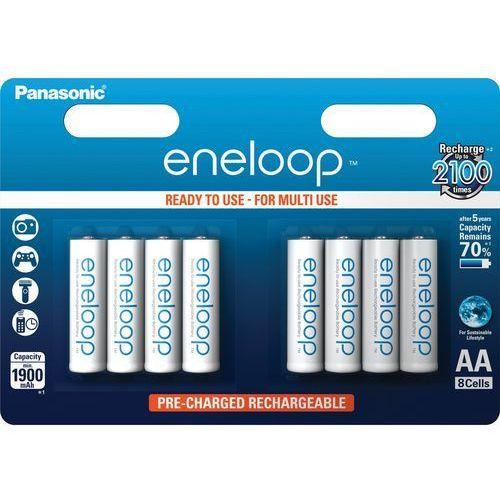 8 x akumulatorki eneloop r6 aa 2000mah bk-3mcce/4be (blister) marki Panasonic