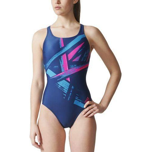 Strój do pływania adidas Graphic Swimsuit BS0300, kolor niebieski
