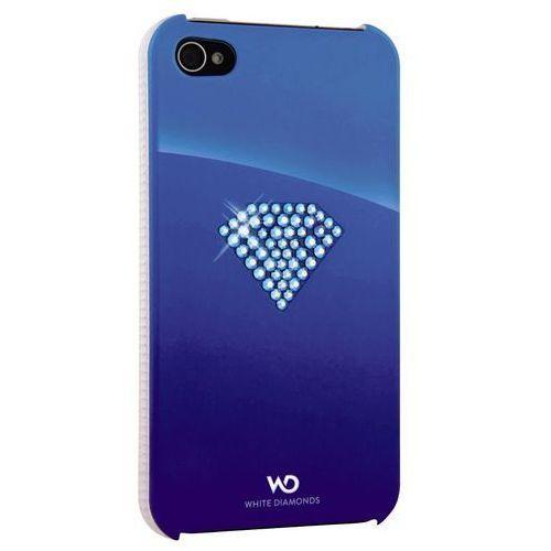 Pokrowiec WHITE DIAMONDS Rainbow iPhone 4/4S Niebieski, kolor niebieski